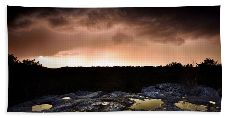 Fontainebleau Bath Sheet featuring the photograph Forest Of Fontainebleau by Olivier Blaise