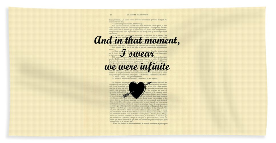 Infinite Hand Towel featuring the digital art Forever Love by Madame Memento