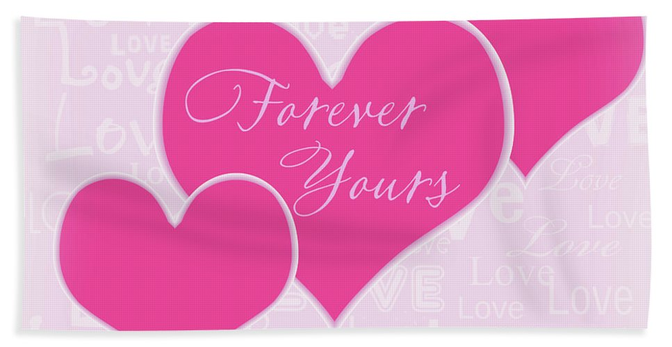 Valentine Bath Sheet featuring the photograph Forever Yours by Eleanor Bortnick