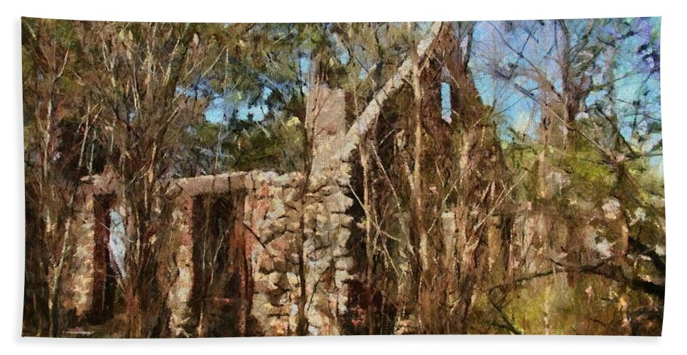 Abandon Hand Towel featuring the painting Forgotten by Jeffrey Kolker
