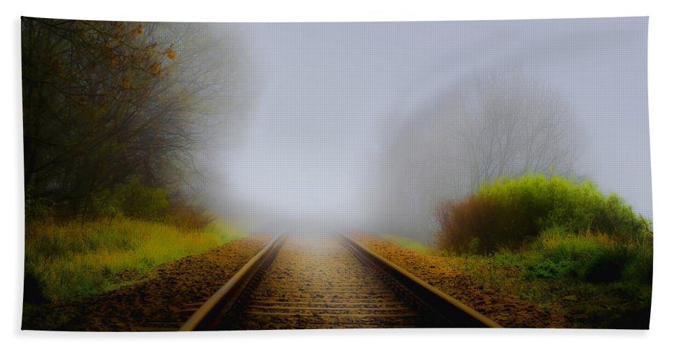 Art Hand Towel featuring the photograph Forgotten Railway Track by Svetlana Sewell