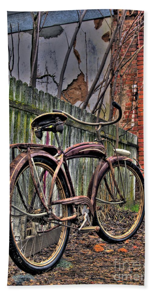 Bicycle Bath Sheet featuring the photograph Forgotten Ride 2 by Jim And Emily Bush