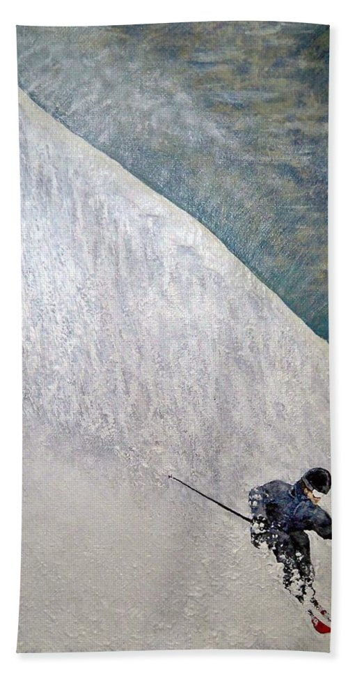 Landscape Bath Towel featuring the painting Form by Michael Cuozzo