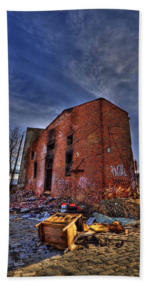 Abandoned Bath Sheet featuring the photograph Forsaken Luxury by Evelina Kremsdorf