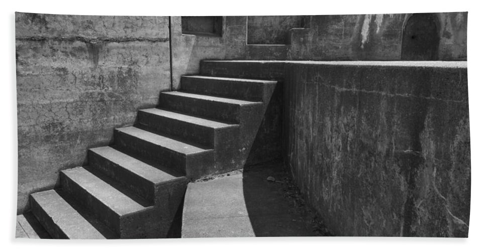 Casey Bath Sheet featuring the photograph Fort Casey Steps 3939 by Bob Neiman