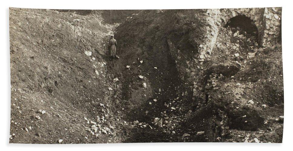 1914 Hand Towel featuring the photograph Fort De La Malmaison by Granger
