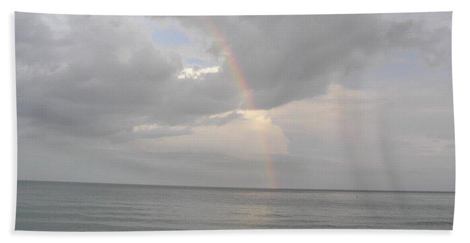 Beach Bath Sheet featuring the photograph Fort Lauderdale Rainbow by Patricia Piffath