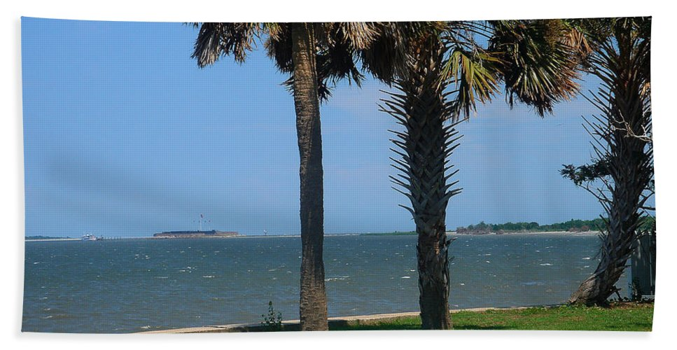 Photography Bath Sheet featuring the photograph Fort Sumter Charleston Sc by Susanne Van Hulst