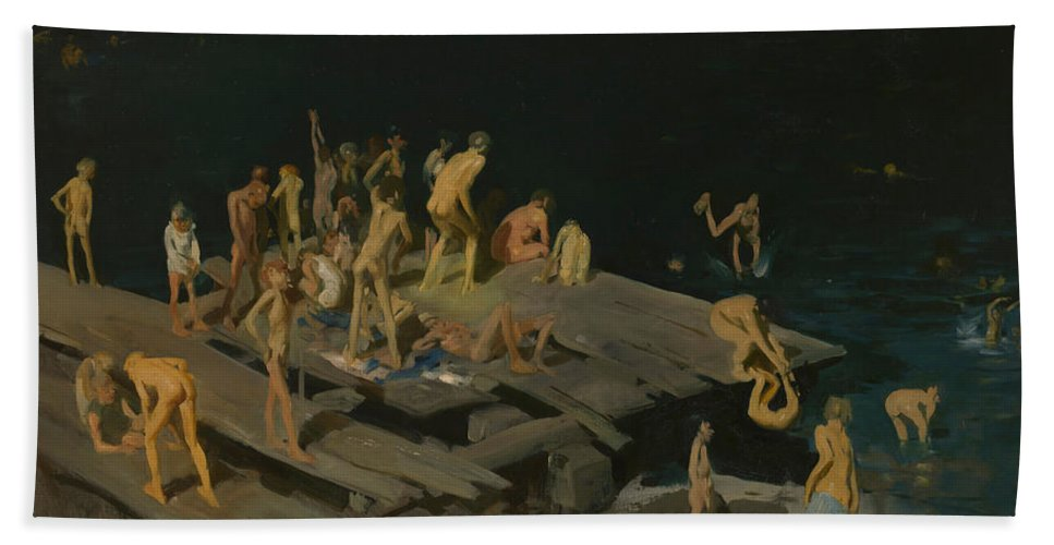 Forty Two Kids Bath Towel for Sale by George Wesley Bellows