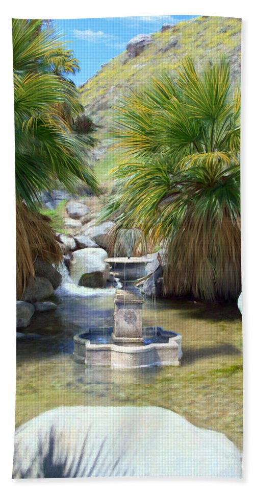 Fountain Hand Towel featuring the digital art Fountain Of Youth by Snake Jagger