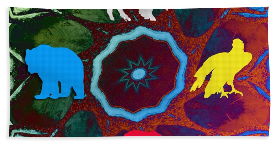 Wildlife Bath Towel featuring the digital art Four Directions  -009 by Will Logan