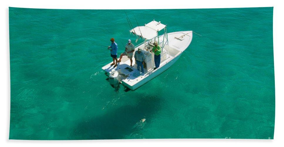Fishing Bath Sheet featuring the photograph Four Fishermen by David Lee Thompson