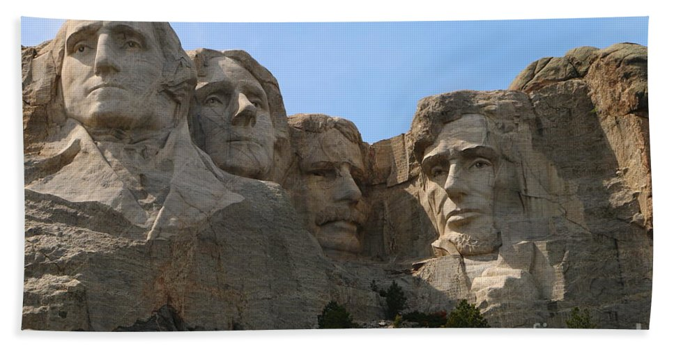 Mount Hand Towel featuring the photograph Four Former U S Presidents by Christiane Schulze Art And Photography