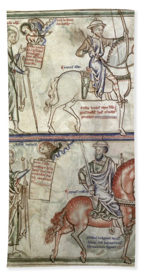 1250 Bath Sheet featuring the photograph Four Horsemen, 1250 by Granger
