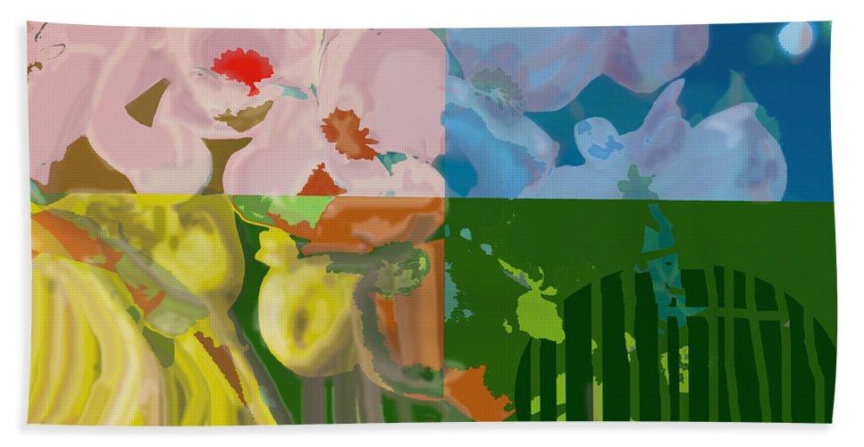 Four Hand Towel featuring the digital art Four Seasons by Ian MacDonald