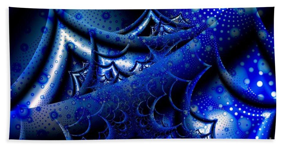 Waves Hand Towel featuring the digital art Fourteen Foot Seas by Ron Bissett