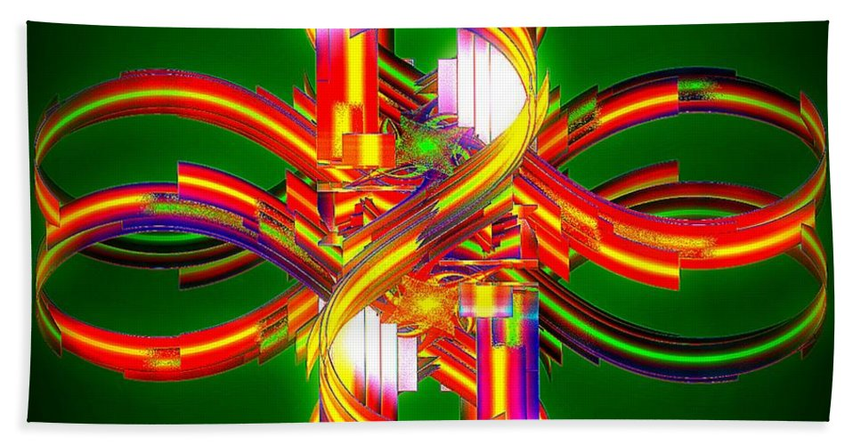 Digital Bath Sheet featuring the digital art Fourth Dimension by Leslie Revels