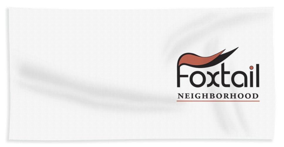 Hand Towel featuring the digital art Foxtail Logo by Arthur Fix