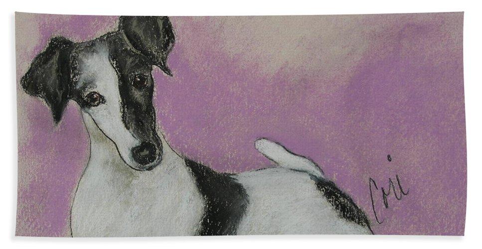 Dog Bath Sheet featuring the drawing Foxy by Cori Solomon