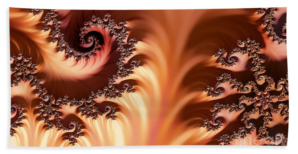 Clay Hand Towel featuring the digital art Fractal Desert by Clayton Bruster