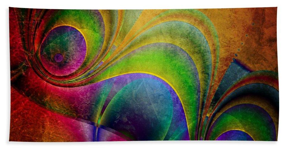 3d Hand Towel featuring the digital art Fractal Design -a5- by Issabild -