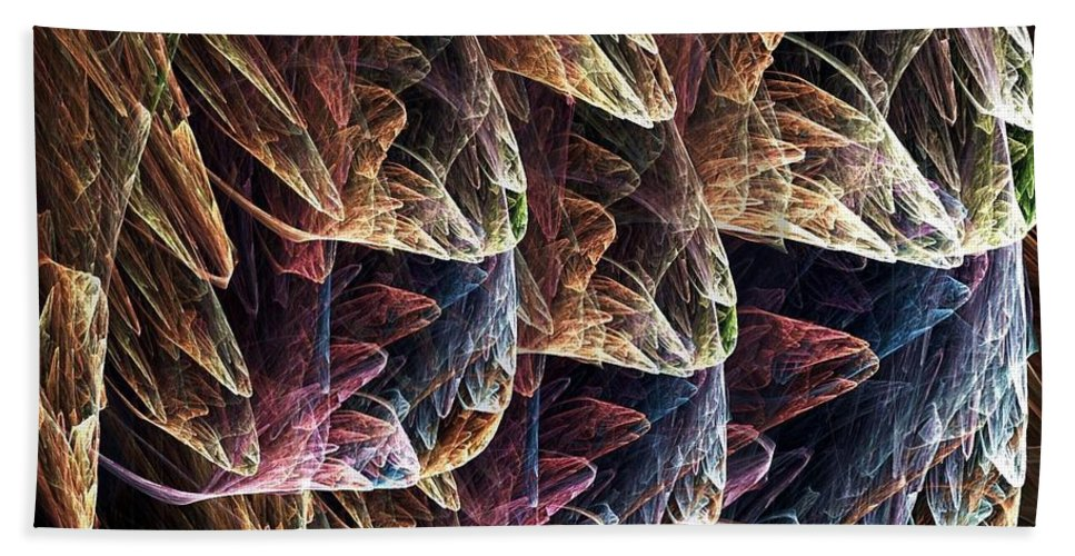 Plastic Bag Hand Towel featuring the digital art Fractal Filled Plastic Bags by Ron Bissett