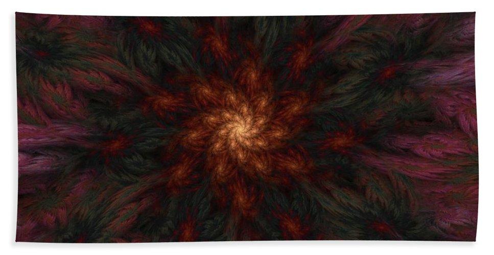 Digital Painting Bath Sheet featuring the digital art Fractal Floral Fantasy 02-13-10-b by David Lane