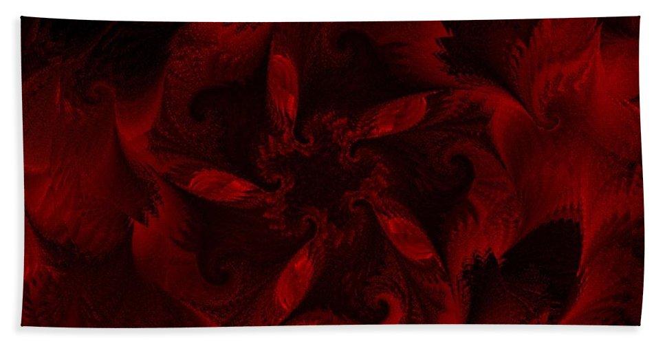 Abstract Digital Painting Bath Towel featuring the digital art Fractal Garden 18 by David Lane
