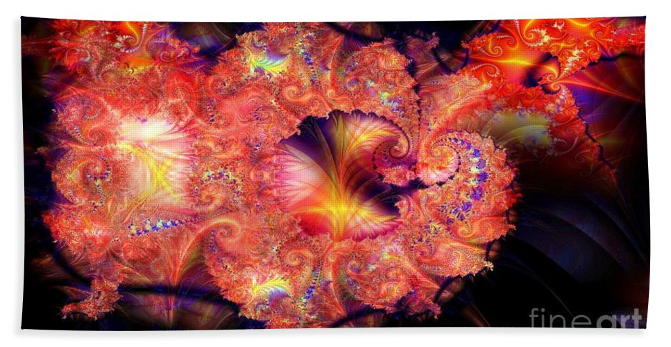 Fractal Hand Towel featuring the digital art Fractal Layered by Ron Bissett