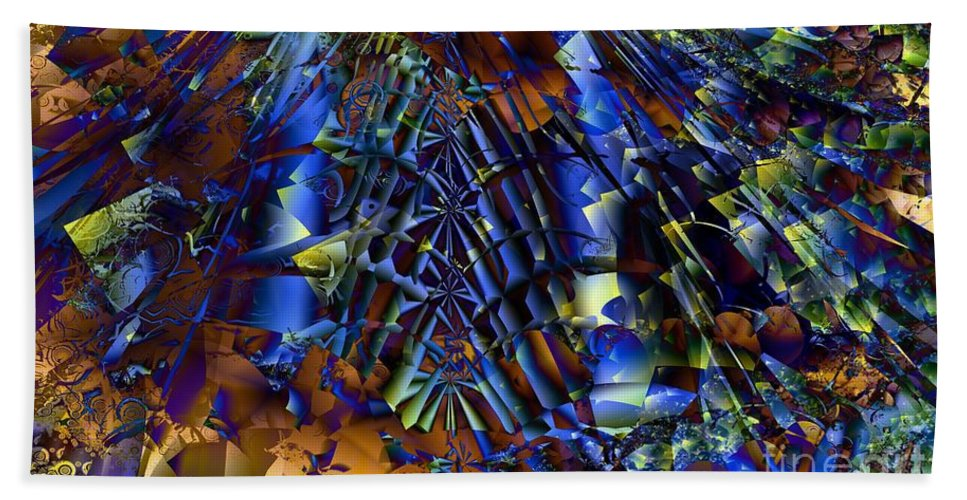 Fractal Bath Sheet featuring the digital art Fractal Of The Day by Ron Bissett