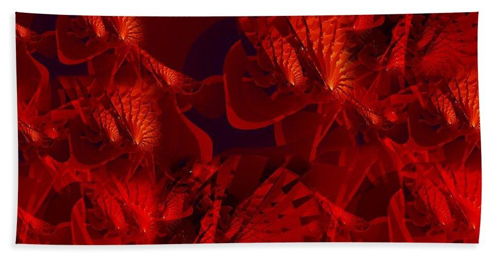 Fractal Hand Towel featuring the digital art Fractal Parapluie by Ron Bissett