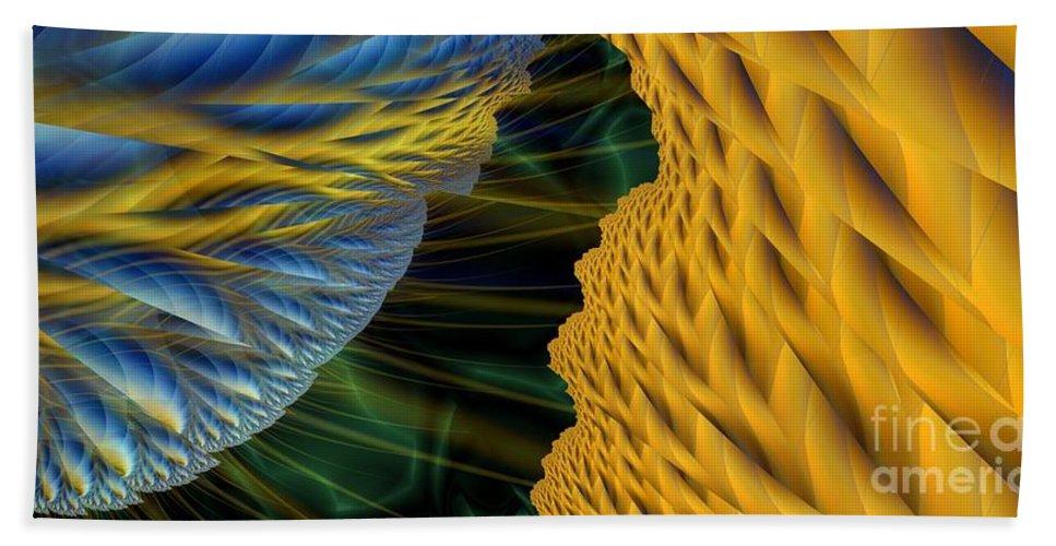 Lightning Hand Towel featuring the digital art Fractal Storm by Ron Bissett