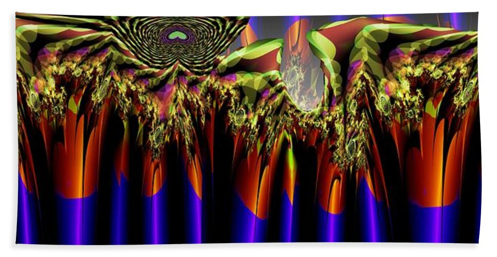 Fractal Hand Towel featuring the digital art Fractal Torch by Ron Bissett