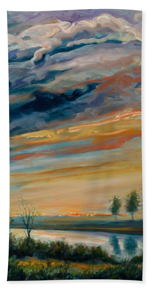 Water Bath Towel featuring the painting France IIi by Rick Nederlof