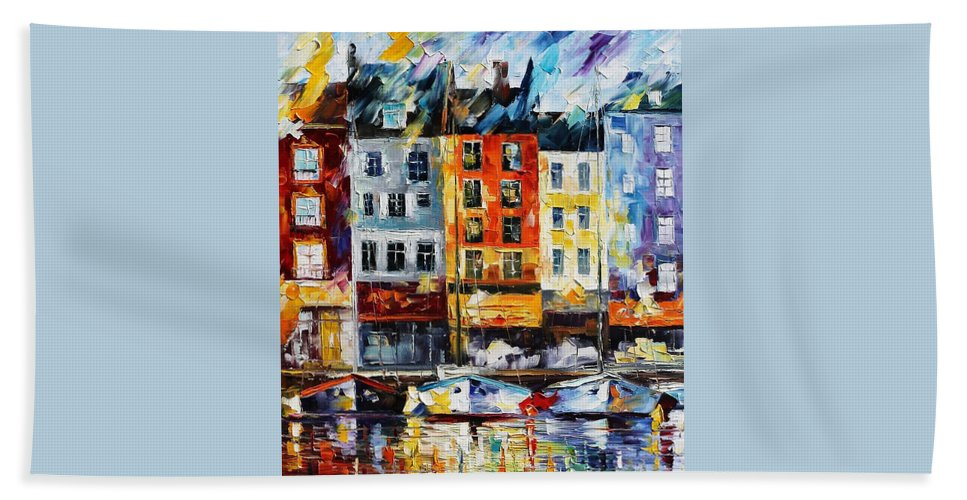 Afremov Hand Towel featuring the painting France New Original by Leonid Afremov