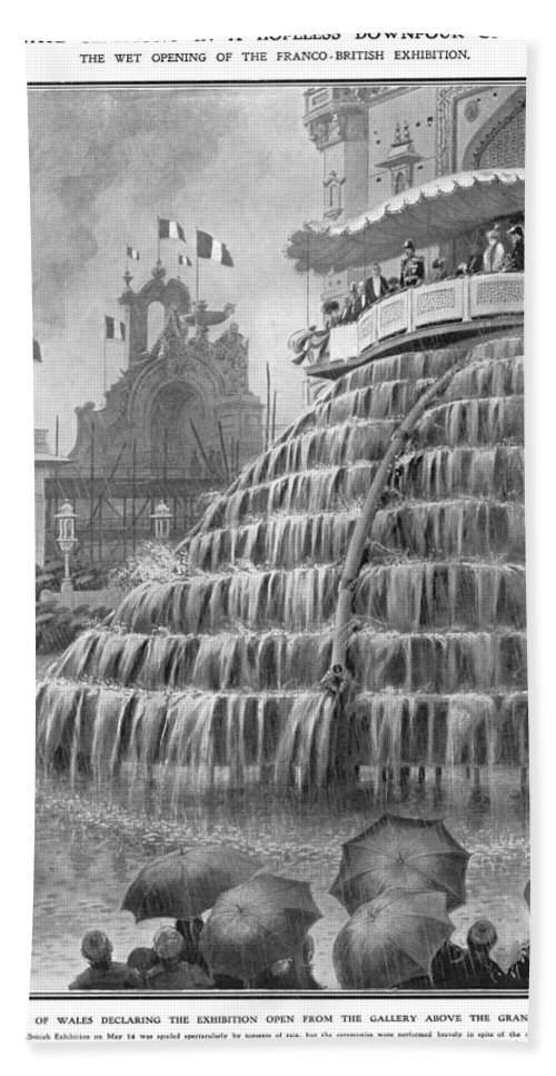 1908 Bath Sheet featuring the photograph Franco-british Exhibition by Granger