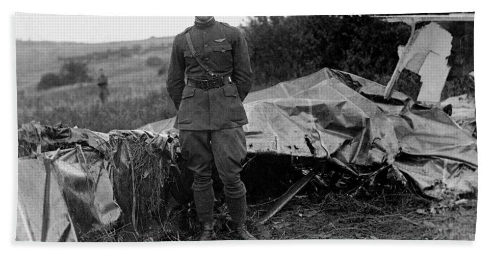 Frank Luke Hand Towel featuring the photograph Frank Luke - Ww1 Fighter Ace by War Is Hell Store