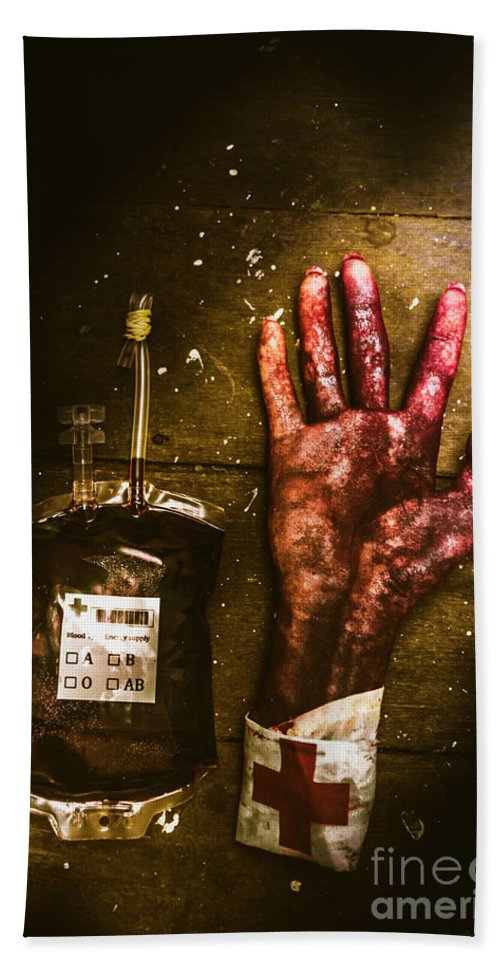 Severed Hand Towel featuring the photograph Frankenstein Transplant Experiment by Jorgo Photography - Wall Art Gallery