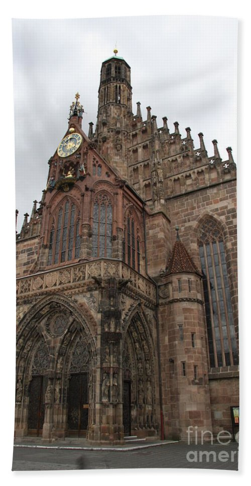 Church Hand Towel featuring the photograph Frauenkirche - Nuremberg by Christiane Schulze Art And Photography