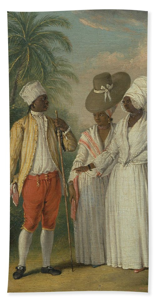 Italian Painters Bath Towel featuring the painting Free West Indian Dominicans by Agostino Brunias