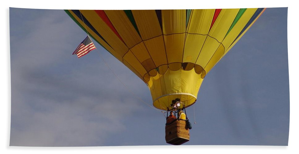 Balloon Bath Sheet featuring the photograph Freedom by Carol Milisen