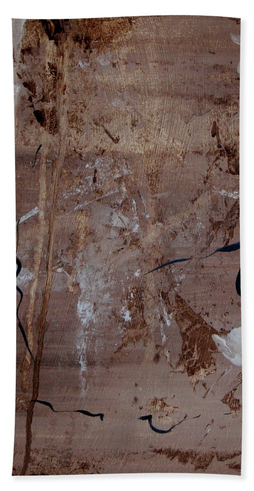 Abstract Bath Sheet featuring the painting Freedom Of Expression by Ruth Palmer