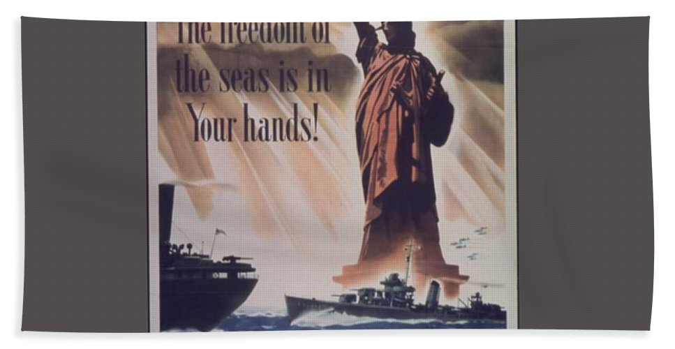 Vintage Bath Sheet featuring the digital art Freedom Of The Seas by Frederick Holiday