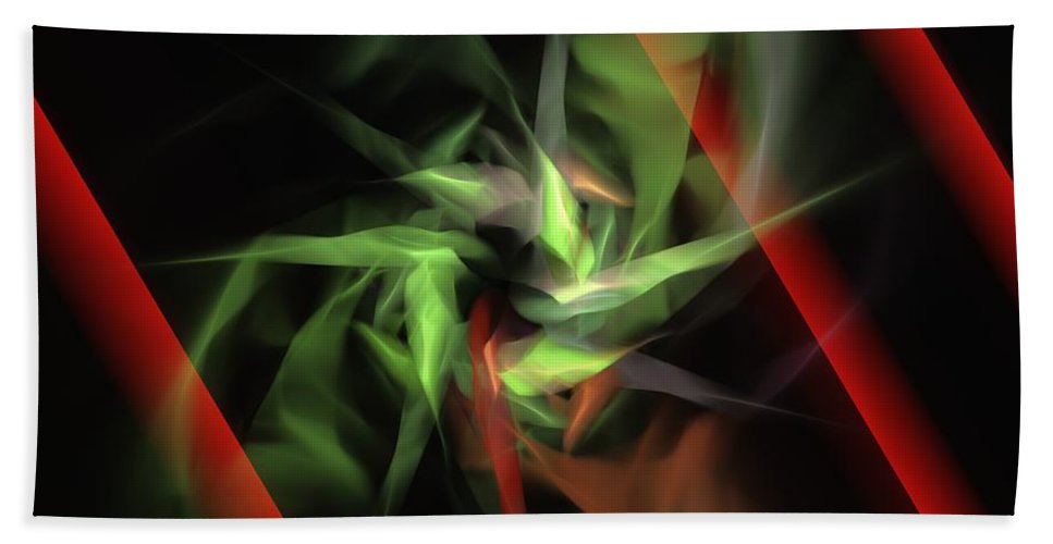Digital Painting Bath Sheet featuring the digital art Freedom Vs Oppression by David Lane