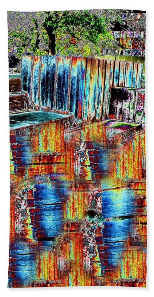 Freeway Park Bath Sheet featuring the digital art Freeway Park 8 by Tim Allen