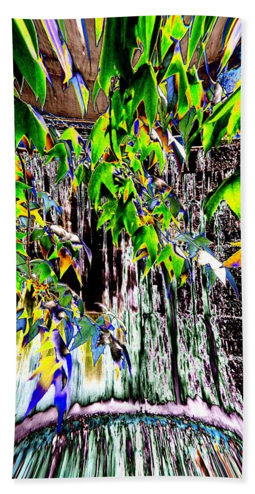Seattle Bath Sheet featuring the photograph Freeway Park Waterfall 3 by Tim Allen