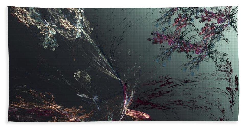 Abstract Hand Towel featuring the digital art Freeze Frame by David Lane