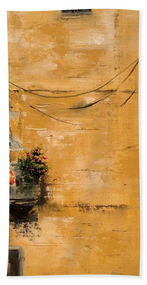 French Hand Towel featuring the painting French Laundry by Barbara Andolsek