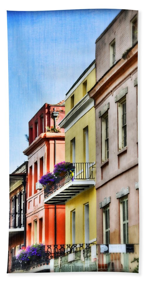 Nola Bath Sheet featuring the photograph French Quarter In Summer by Tammy Wetzel