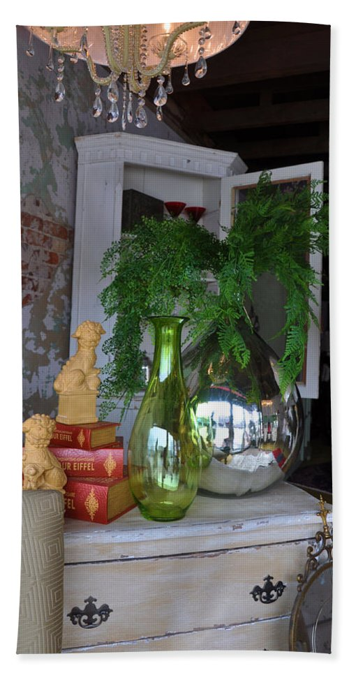 Interiors Hand Towel featuring the photograph French Reflection by Jan Amiss Photography